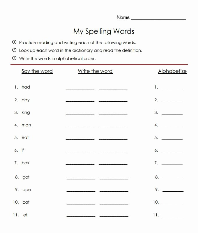 Blank Spelling Practice Worksheets Best Of 10 Sample Spelling Practice Worksheet Templates – Dlword