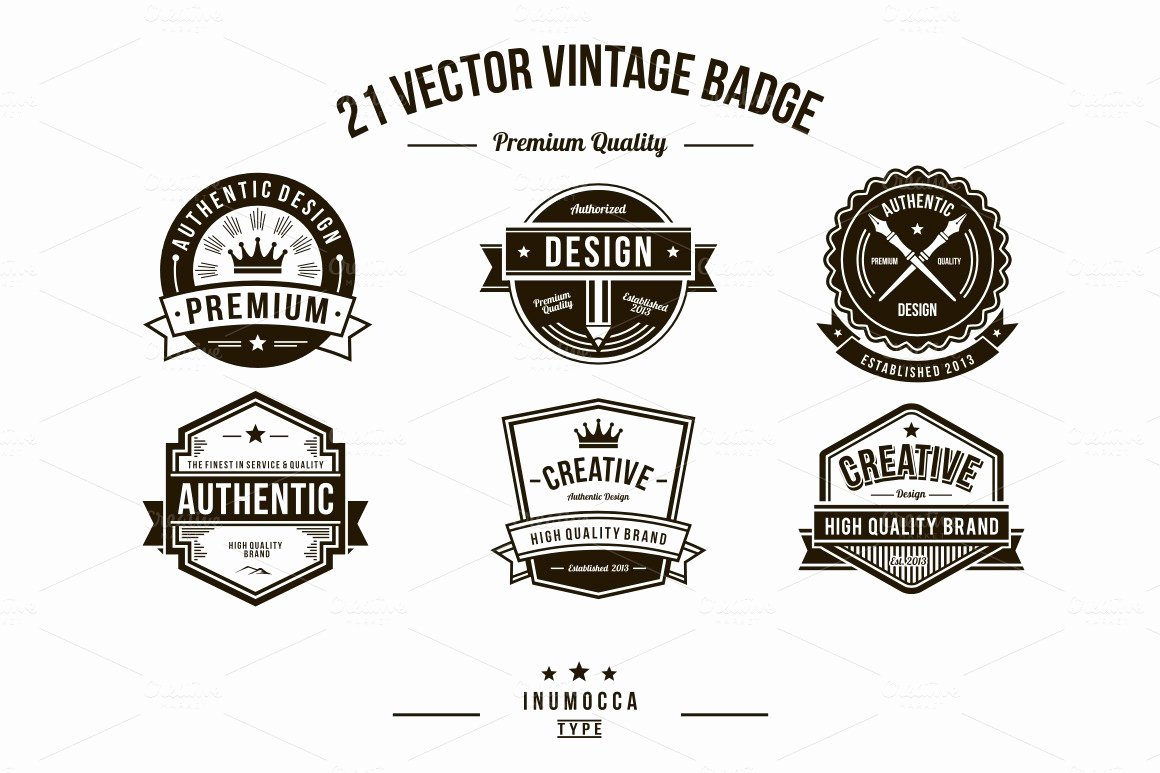 Blank Vintage Logo Template Awesome 21 Vintage Badges Clear & Crack Logo Templates On