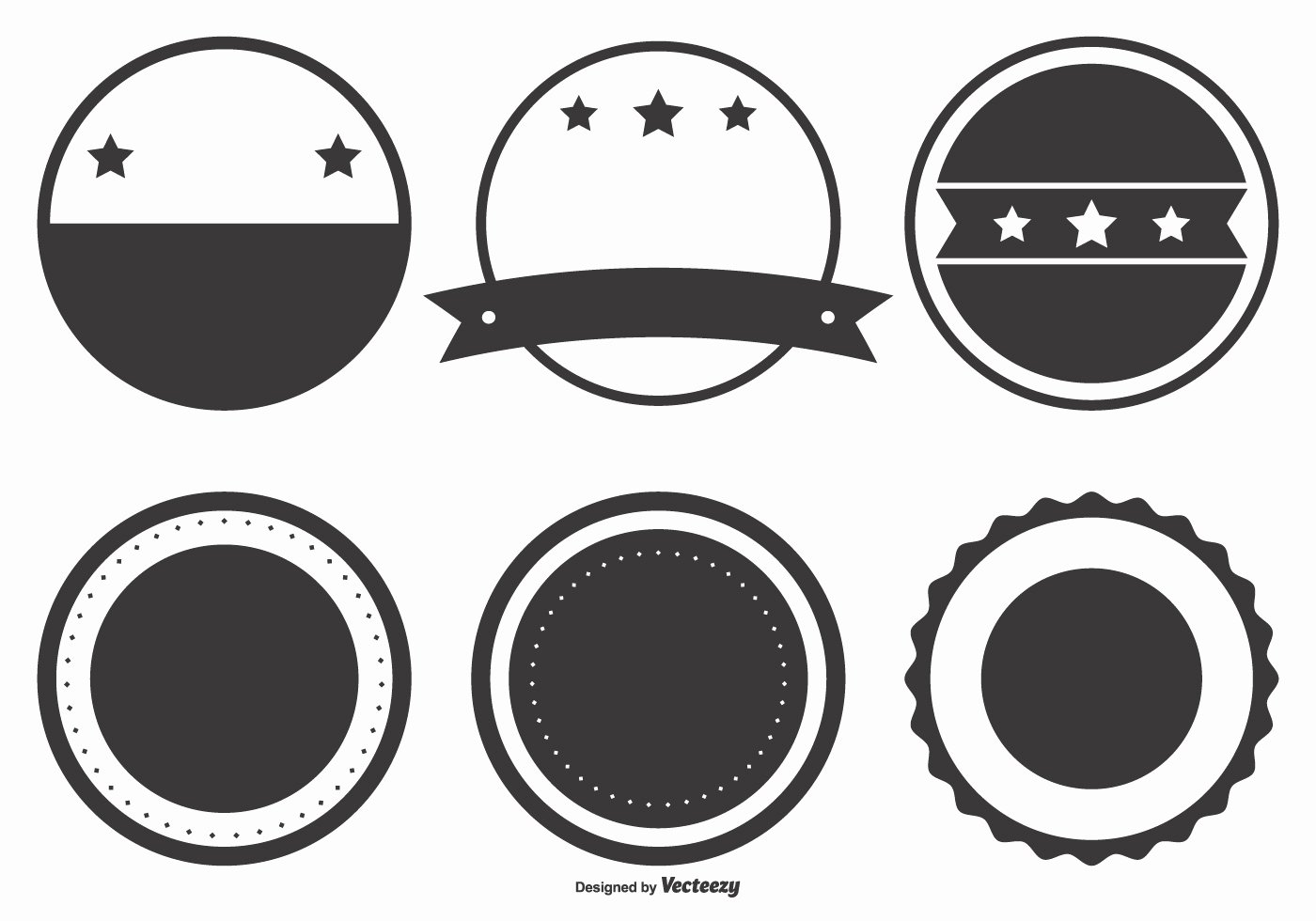 Blank Vintage Logo Template Fresh Blank Retro Badge Shapes Download Free Vector Art Stock
