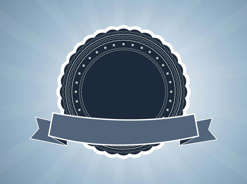 Blank Vintage Logo Template Fresh Retro Vector Badge