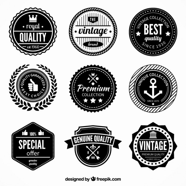 Blank Vintage Logo Template Inspirational Emblem Vectors S and Psd Files