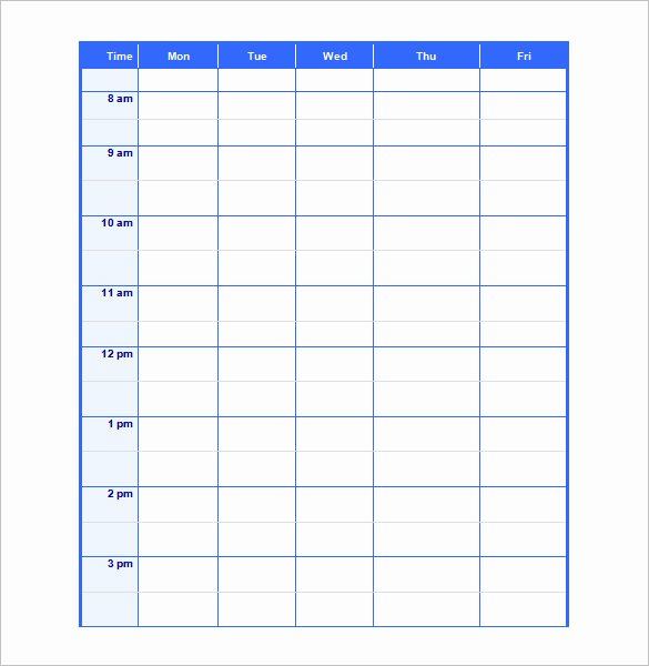 Blank Word Document Free Beautiful Blank Schedule Template 23 Free Word Excel Pdf format