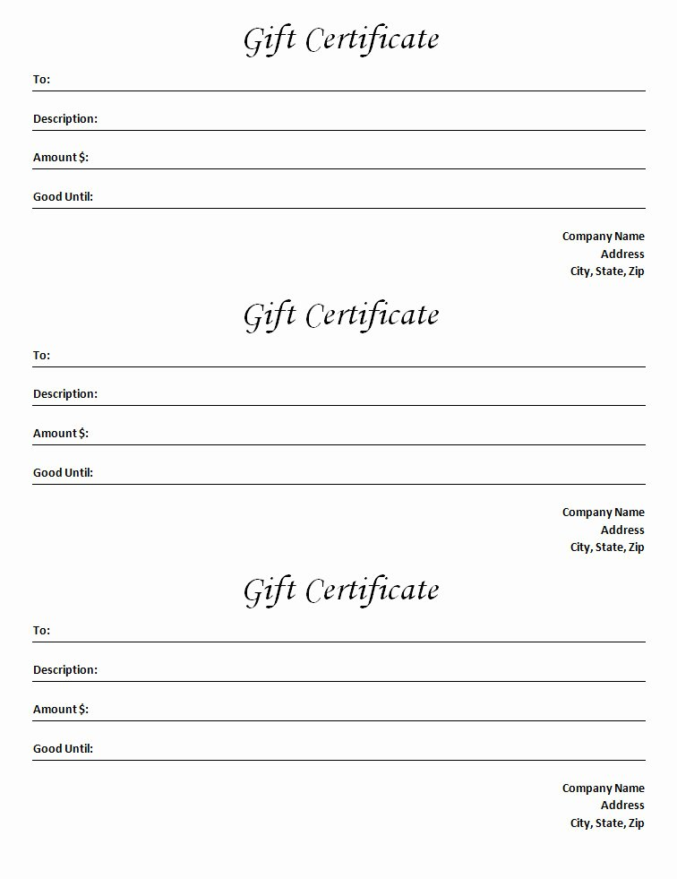 Blank Word Document Free Beautiful Gift Certificate Template Blank Microsoft Word Document