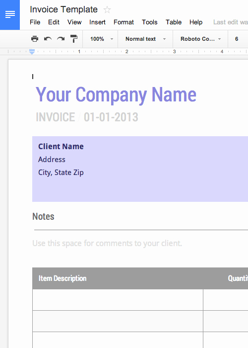Blank Word Document Free Fresh Use This Blank Invoice Template for Google Docs now Free