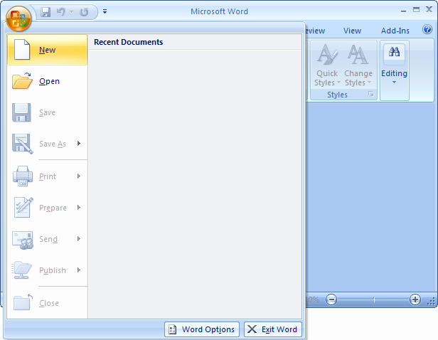 Blank Word Document Free New Download Free software Microsoft Word 2007 Blank Document