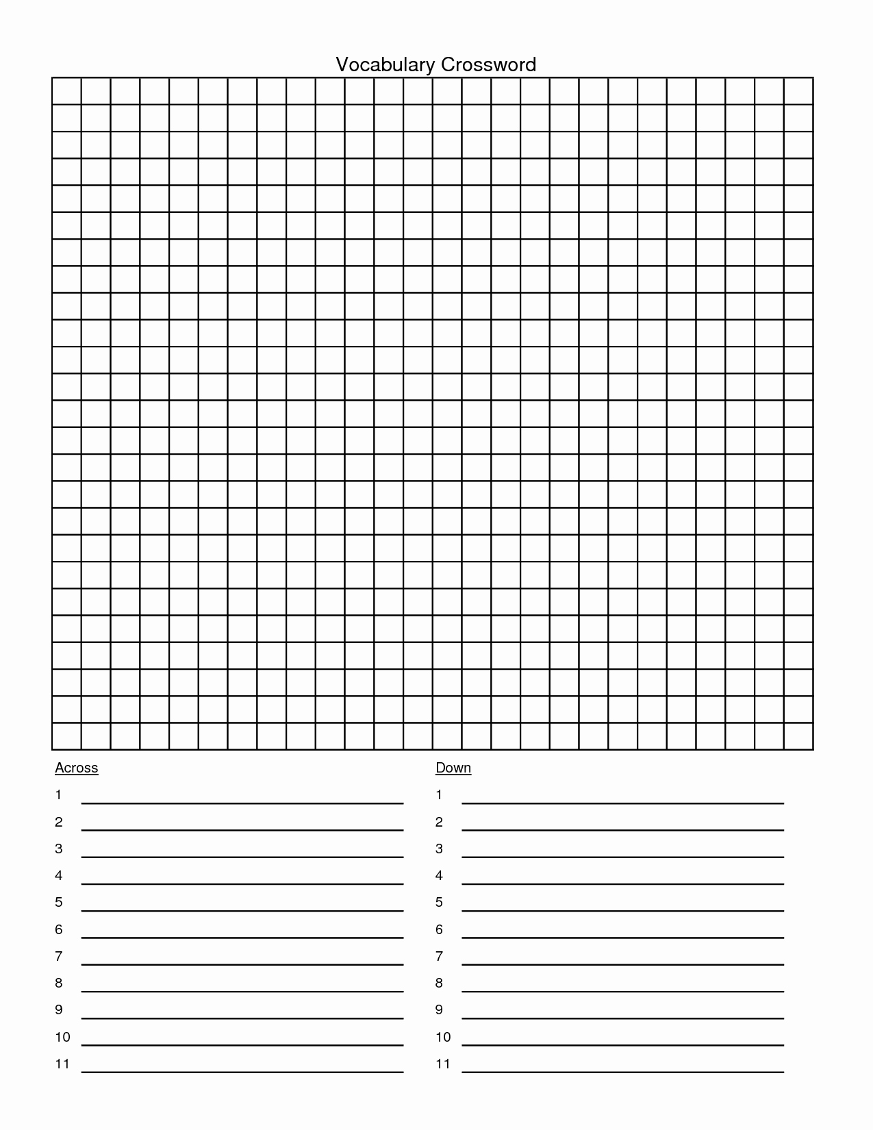 Blank Word Search Printable Beautiful Best S Of Blank Crossword Puzzle Grid 30x30 Blank