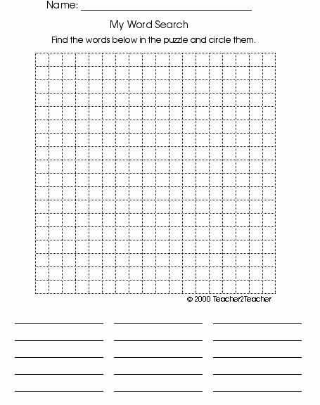 Blank Word Search Printable Best Of Blank Wordsearch Grids Teaching Ideas