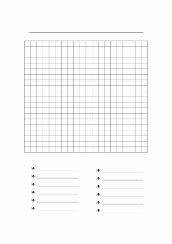 Blank Word Search Printable New Blank Wordsearch by Freckle06 Teaching Resources Tes