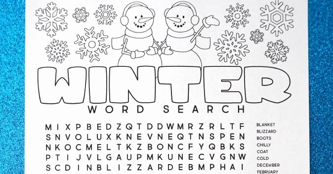 Blank Word Search Printable New Free Printable Winter Word Search Coloring Page