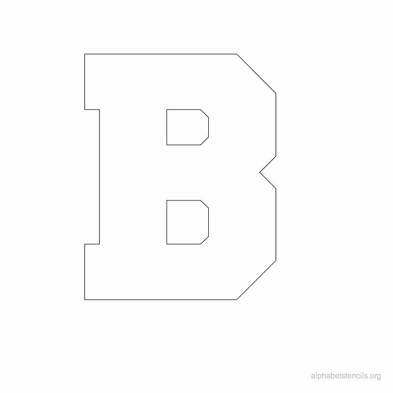 Block Letter Alphabet Template Awesome Print Free Alphabet Stencils Block B