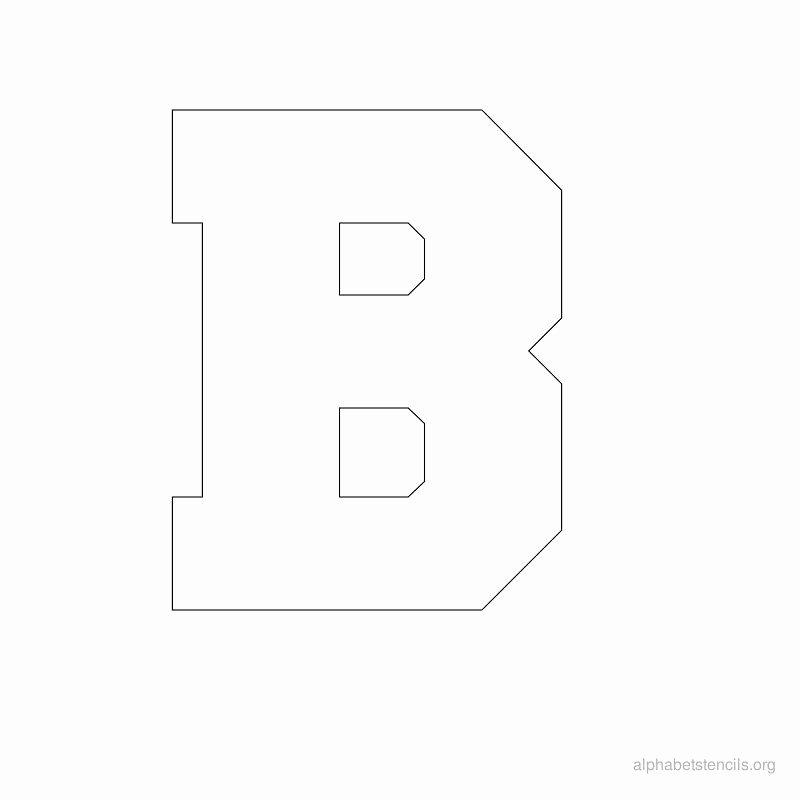 Block Letter Alphabet Template Awesome Print Free Alphabet Stencils Block B