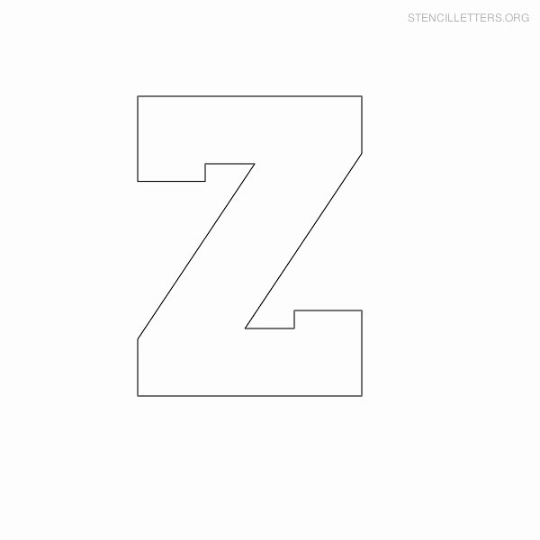 Block Letter Alphabet Template Elegant Stencil Printable Gallery Category Page 5