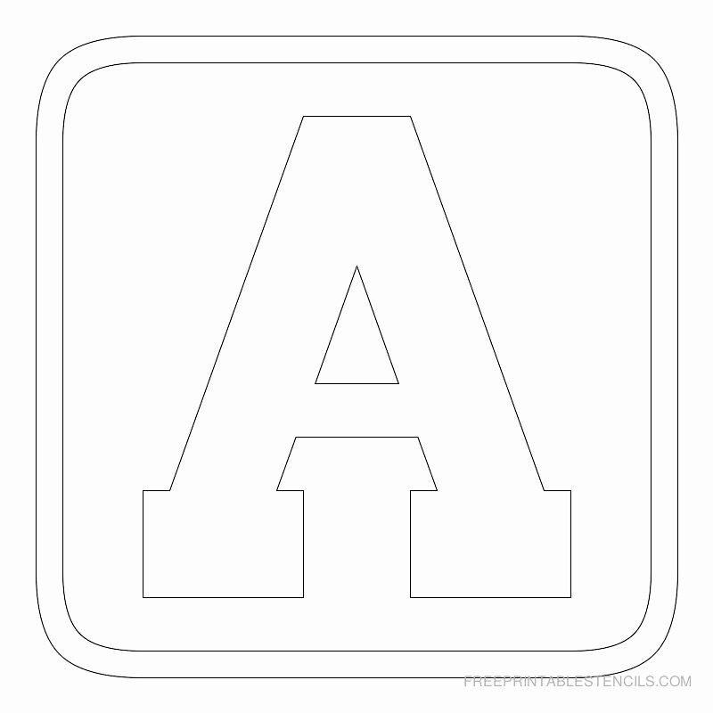 Block Letter Alphabet Template Fresh Free Printable Alphabet Stencils