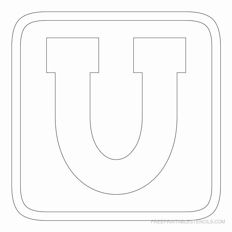Block Letter Alphabet Template Inspirational Printable Block Letter Stencils