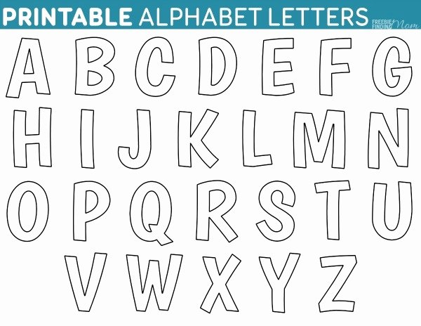 Block Letter Alphabet Template Lovely Alphabet Letter Templates