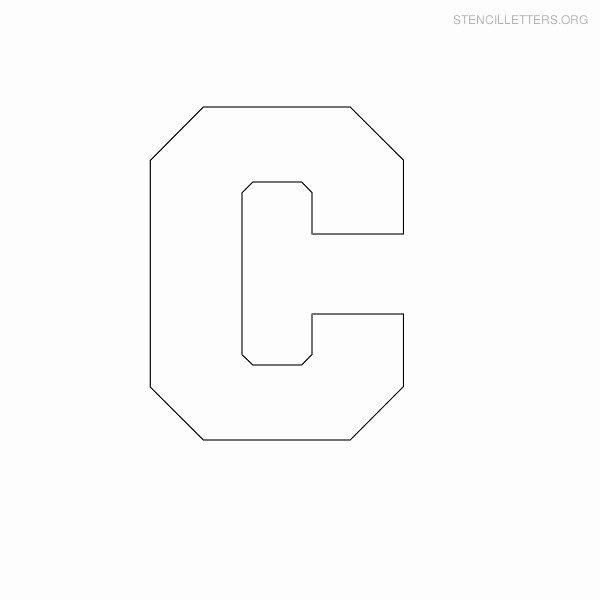 Block Letter Alphabet Template Unique Resume format Letter C Stencils