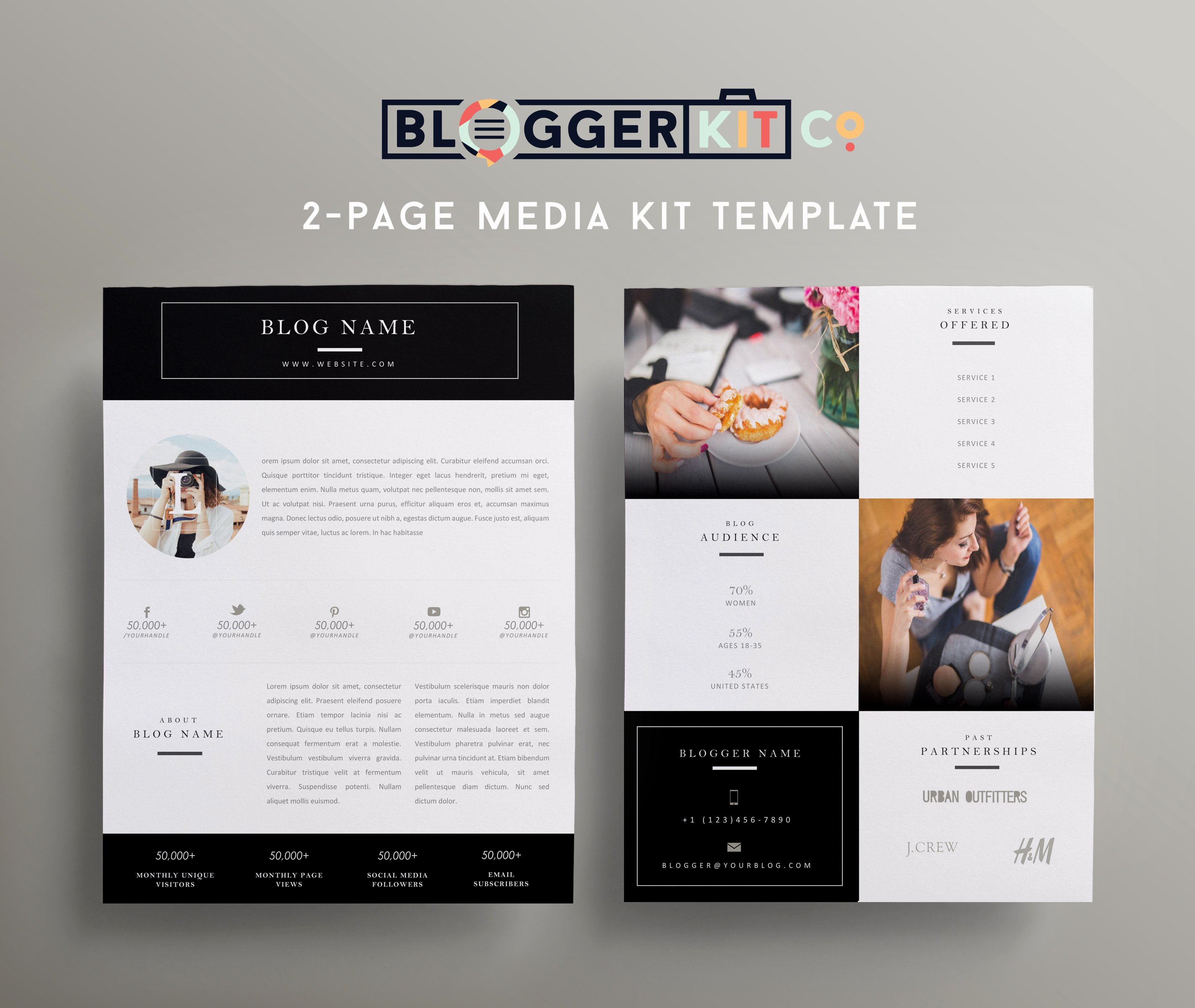 Blogger Media Kit Template Awesome Beauty Blogger Pink Media Kit Template