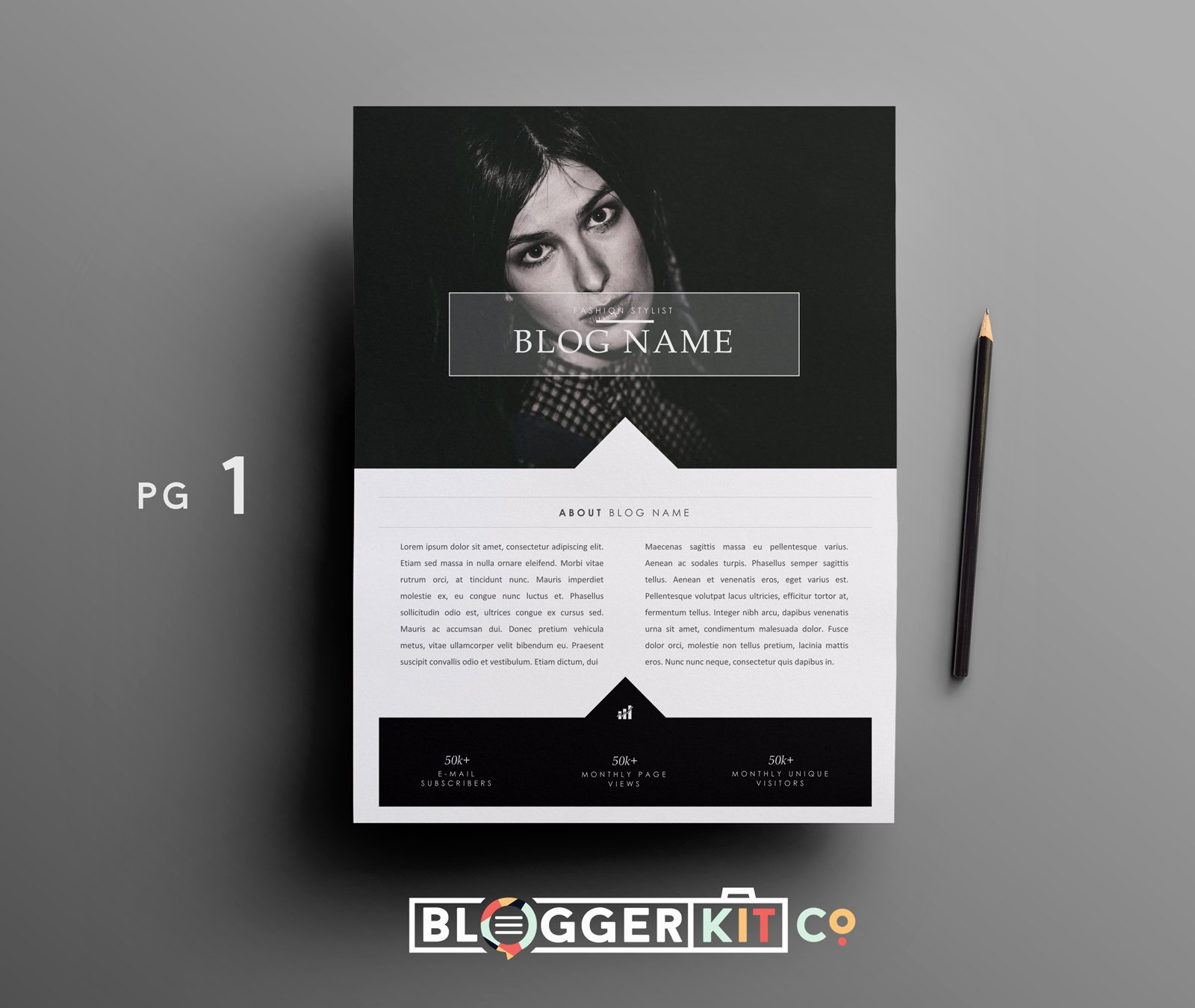 Blogger Media Kit Template Awesome Fashion Blogger Media Kit Template