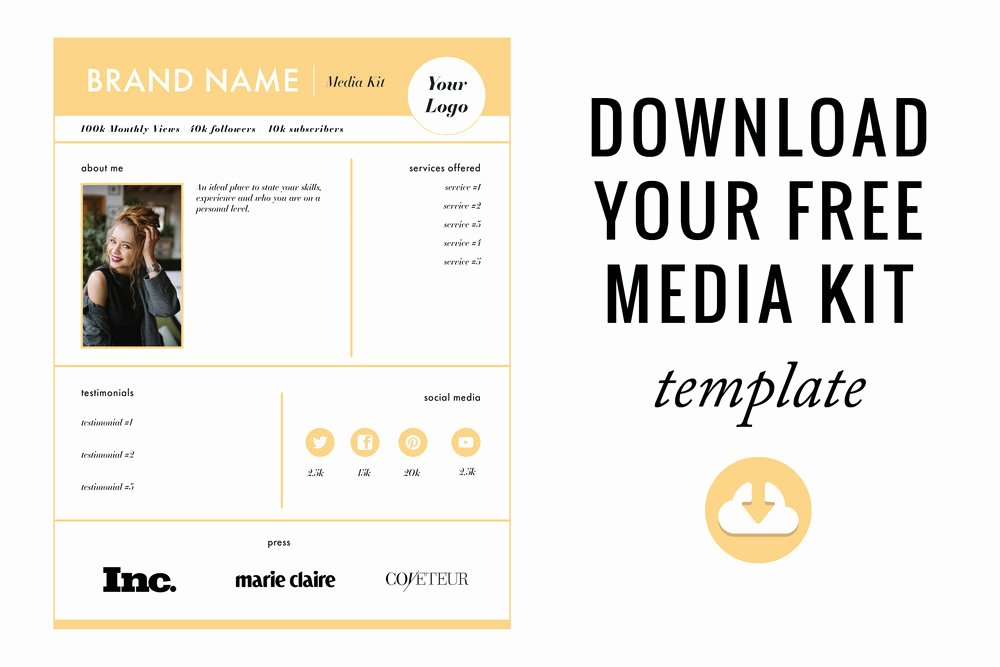 Blogger Media Kit Template Awesome How to Create the Perfect Media Kit Free Template — Blog