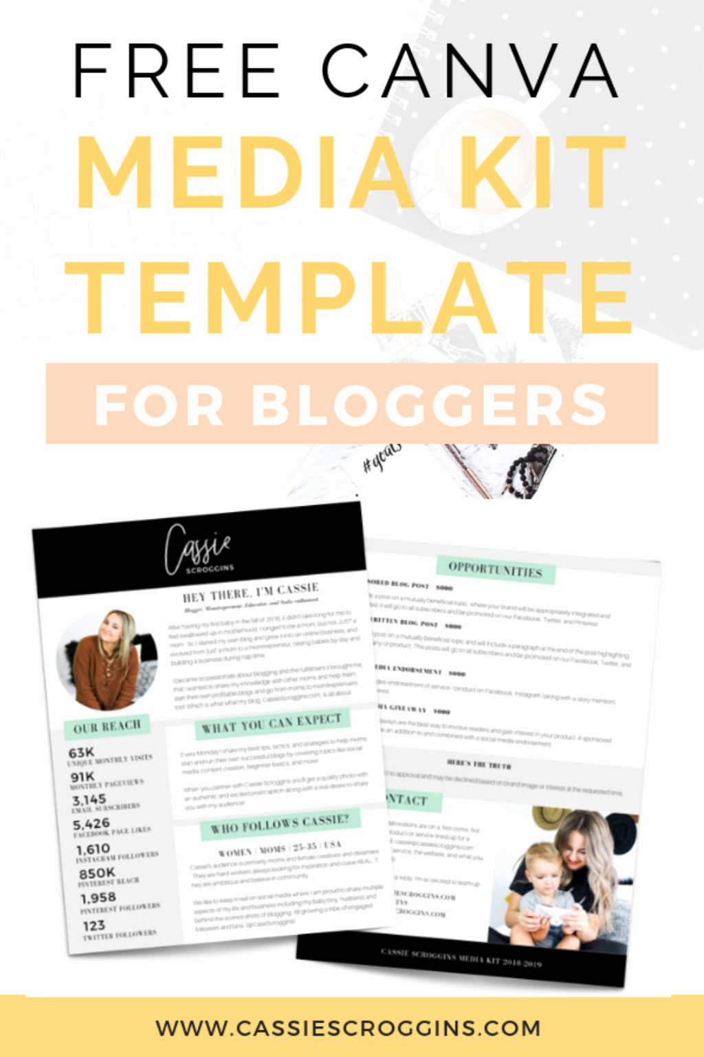 Blogger Media Kit Template Beautiful Free Canva Media Kit Template for Bloggers Cassie Scroggins