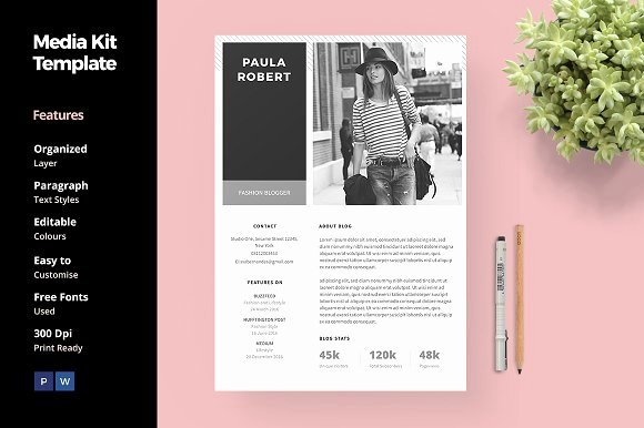 Blogger Media Kit Template Best Of 20 Media Kit Templates to Pitch Your Blog to Brands and