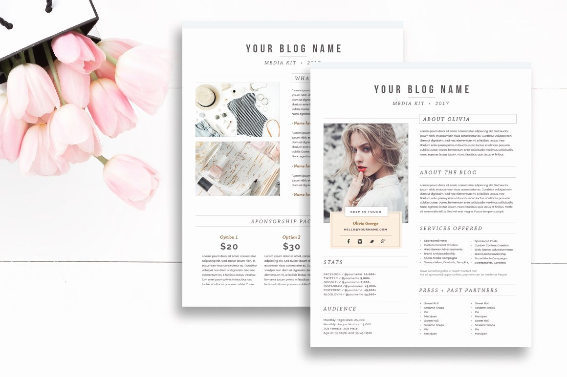 Blogger Media Kit Template Best Of Media Kit Template 2 Page Stationery Templates