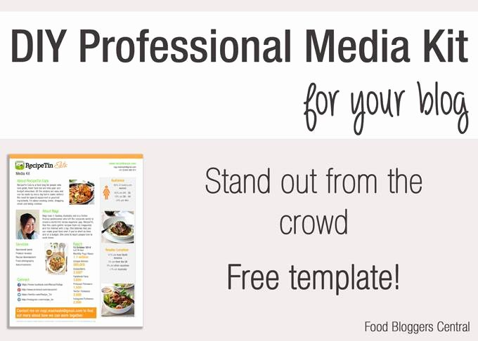 Blogger Media Kit Template Lovely Free Media Kit Template