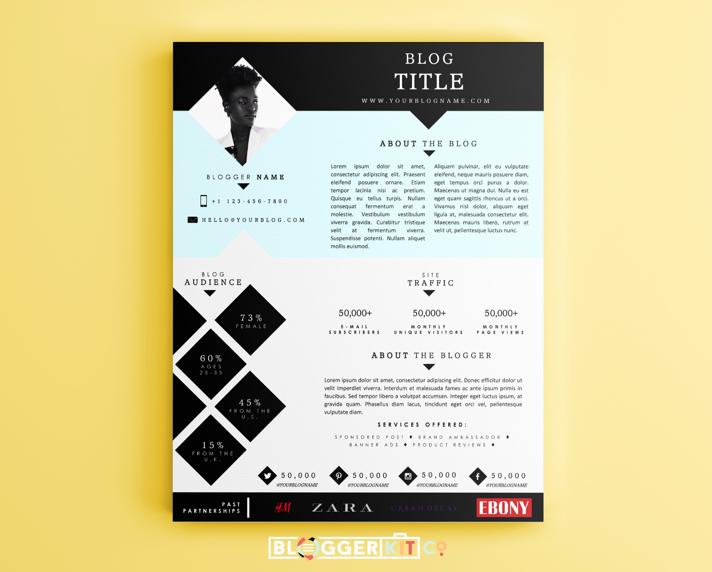 Blogger Media Kit Template Lovely the Goal Getter Media Kit Template