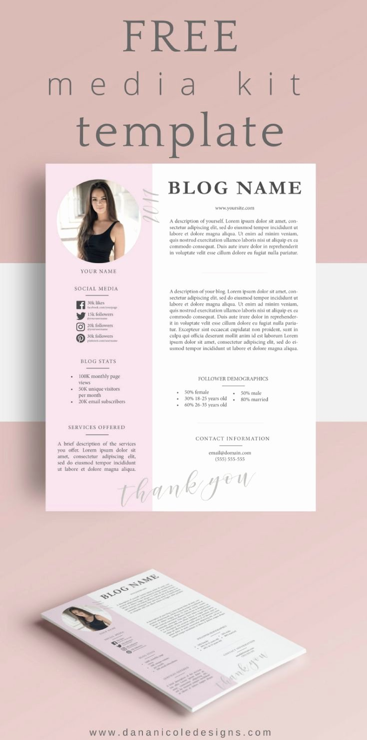 Blogger Media Kit Template Luxury Free Media Kit Template Business Tips