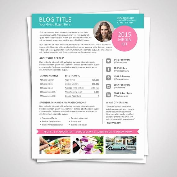 Blogger Media Kit Template New Blog Media Kit Template Ad Rate Sheet Template by Graphicadi