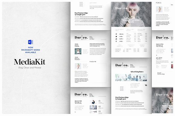 Blogger Media Kit Template Unique 20 Media Kit Templates to Pitch Your Blog to Brands and