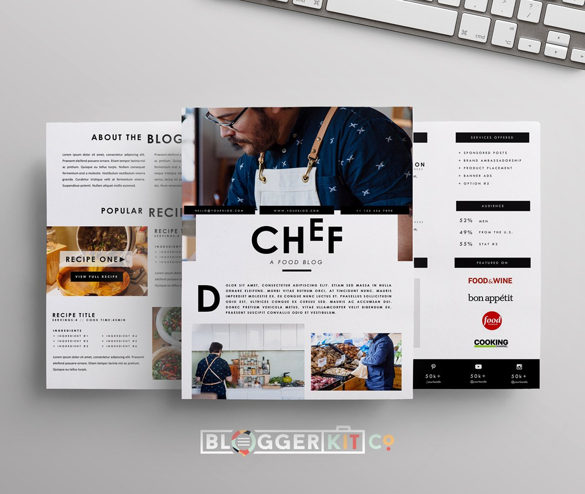 Blogger Media Kit Template Unique Chef Media Kit Template for Food Bloggers