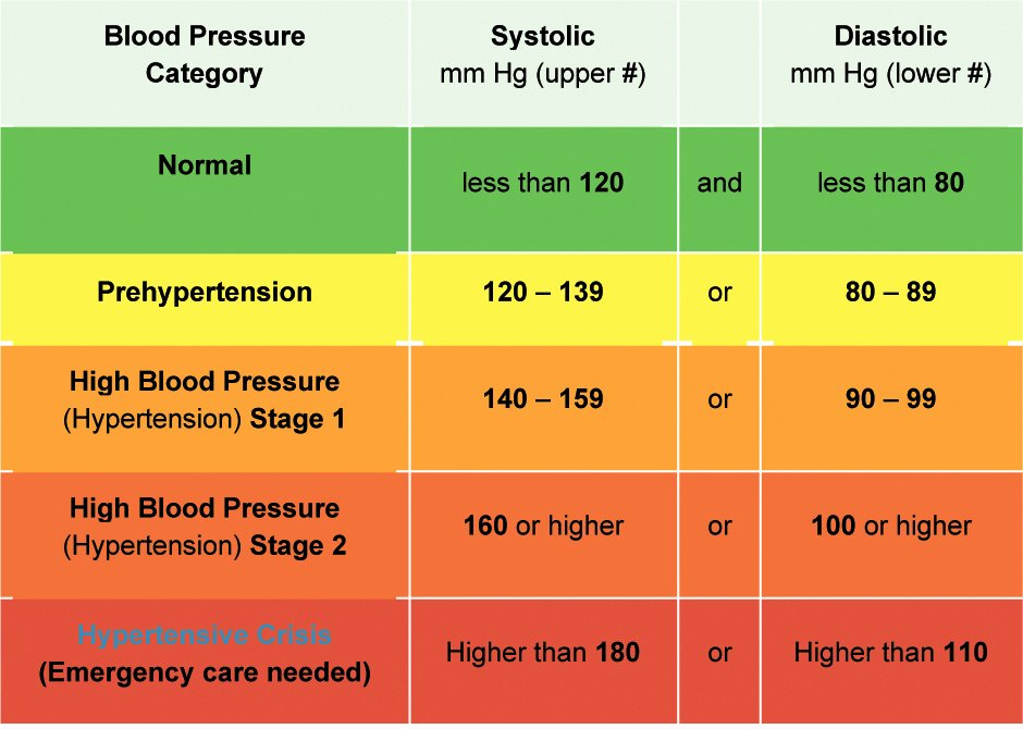 Blood Pressure Chart Unique What is Blood Pressure – Osteopathy Singapore