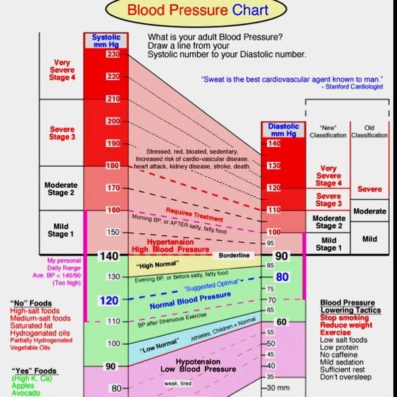 Blood Pressure Charts Awesome Blood Pressure Chart Medical Pinterest