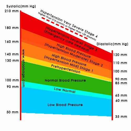 Blood Pressure Charts Unique Blood Pressure Chart Bp Chart E tools Age