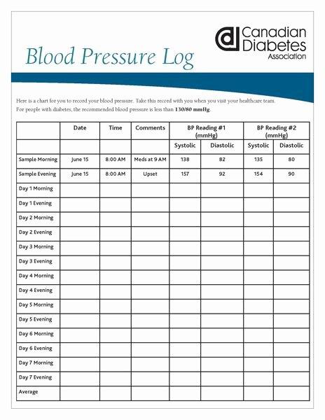 Blood Pressure Log for Patients Unique Blood Pressure Log – Shop Diabetes Canada