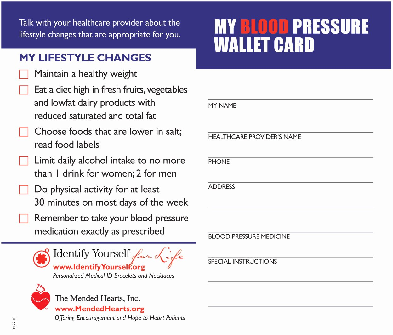 Blood Pressure Log for Patients Unique E Million Blood Pressure Tracking Cards Donated to Veterans
