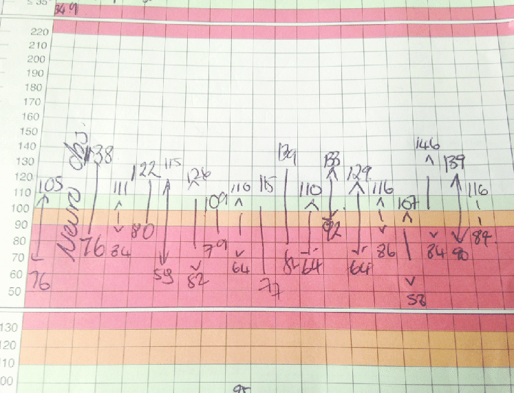 Blood Pressure Log for Patients Unique Observation Chart Showing Fluctuations In Blood Pressure