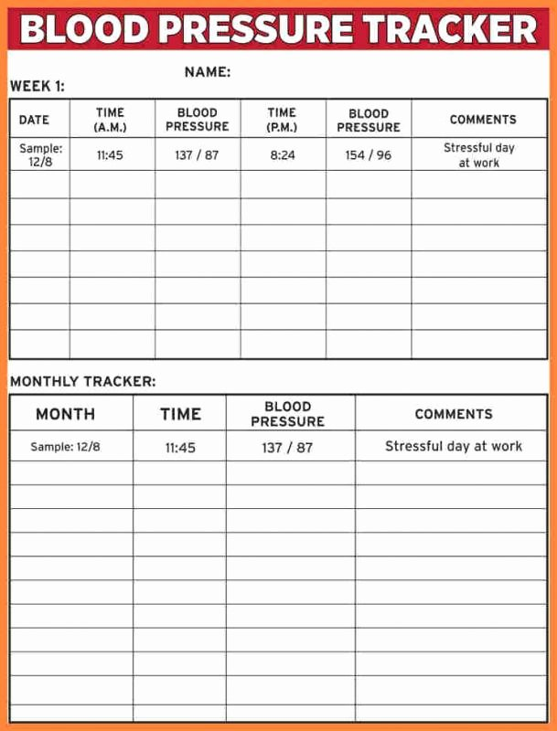 Blood Pressure Record Chart Best Of Blood Pressure Recording Charts