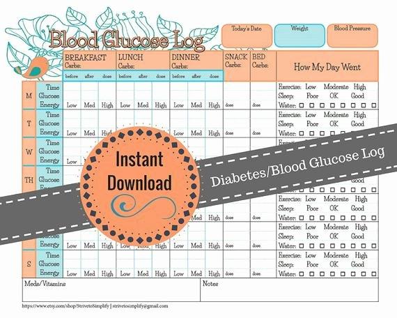 Blood Sugar Monitoring Log Elegant Weekly Blood Glucose Diabetes Log Diabetic Journal Blood