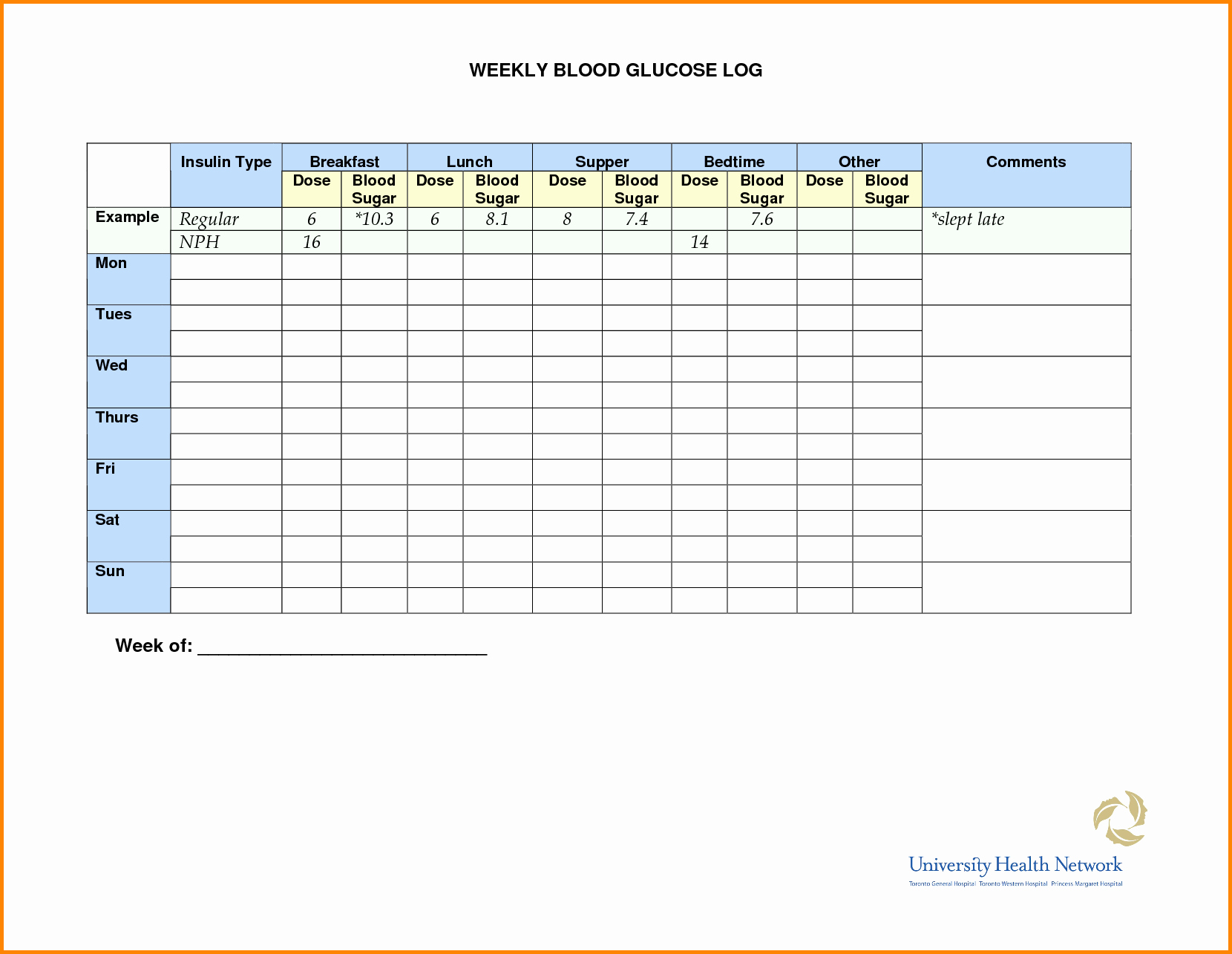 Blood Sugar Monitoring Log Lovely Blood Glucose Monitoring Chart