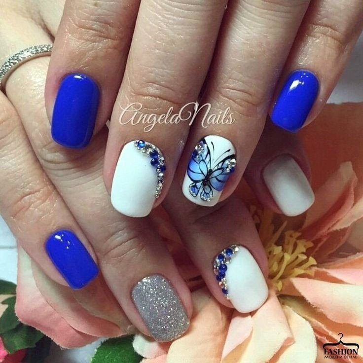 Blue Nail Polish Designs Awesome Best 25 Bright Blue Nails Ideas On Pinterest