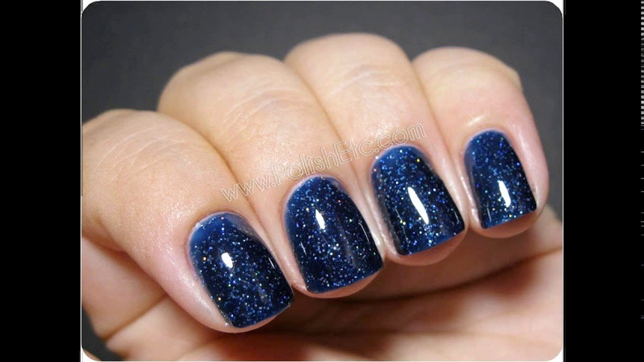Blue Nail Polish Designs Awesome Navy Blue Nail Polish Designs