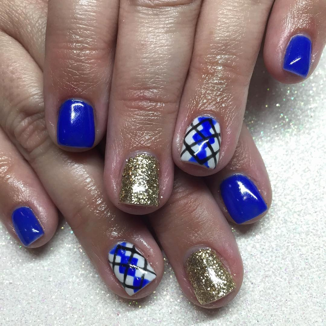Blue Nail Polish Designs Beautiful 21 Royal Blue Nail Art Designs Ideas