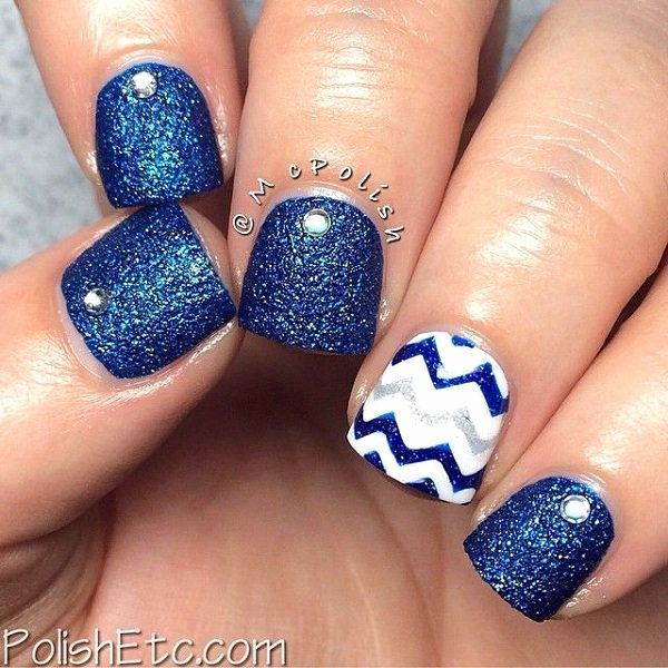 Blue Nail Polish Designs Inspirational 29 Adorable Blue Nail Designs for 2018 Pretty Designs