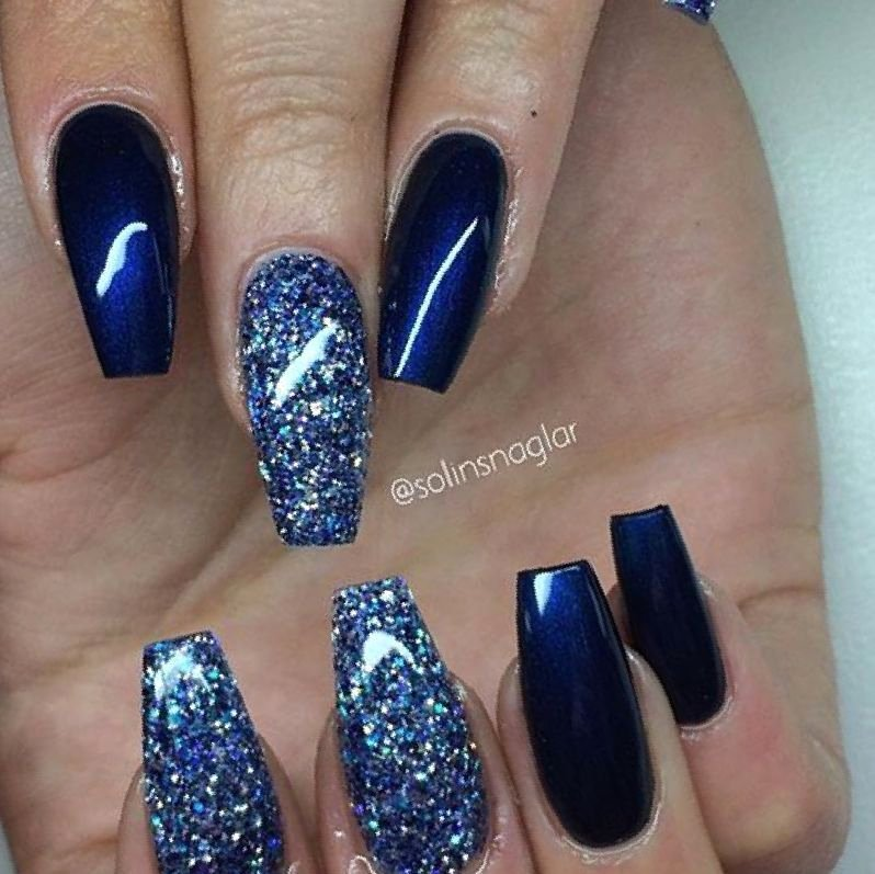 Blue Nail Polish Designs Inspirational 37 Dark Blue Nail Polish Designs Fashion In Pix Ideas