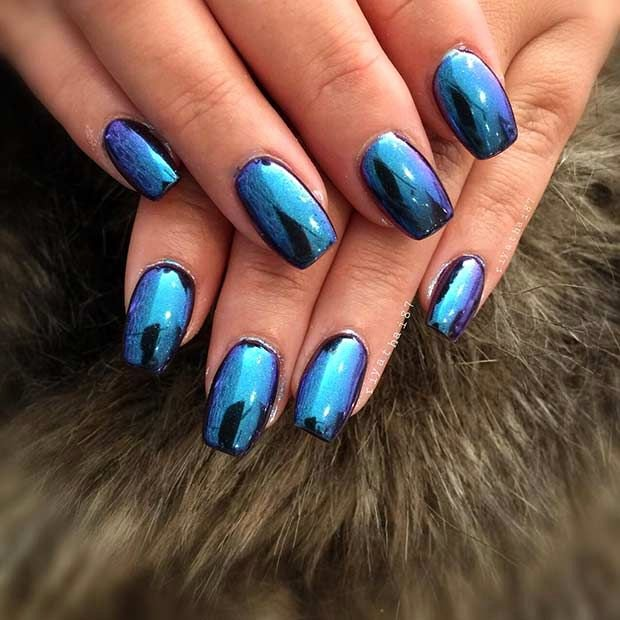 Blue Nail Polish Designs Luxury 15 Must See Blue Nails Pins