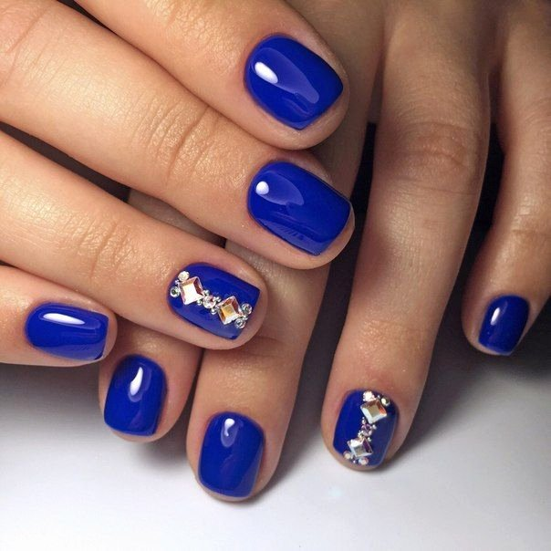 Blue Nail Polish Designs Luxury Best 25 Bright Blue Nails Ideas On Pinterest
