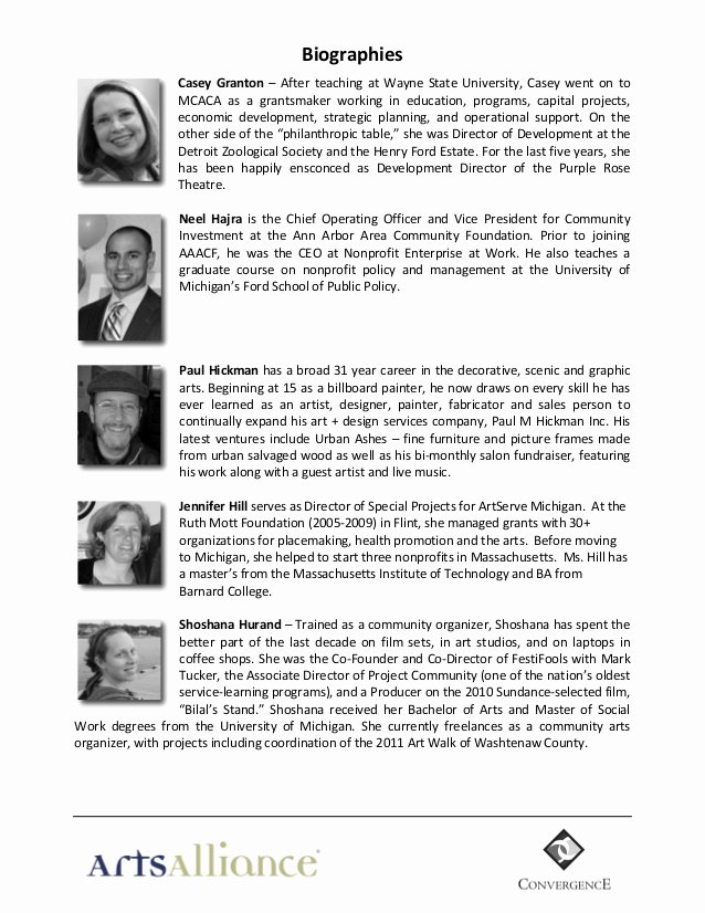 Board Member Bio Template Beautiful Sample Conference Program