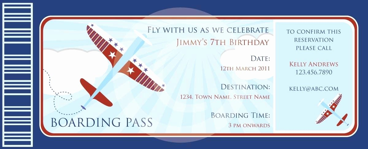 Boarding Pass Birthday Invitations Inspirational Boarding Pass Airplanes Invitation Diy Printable for Baby
